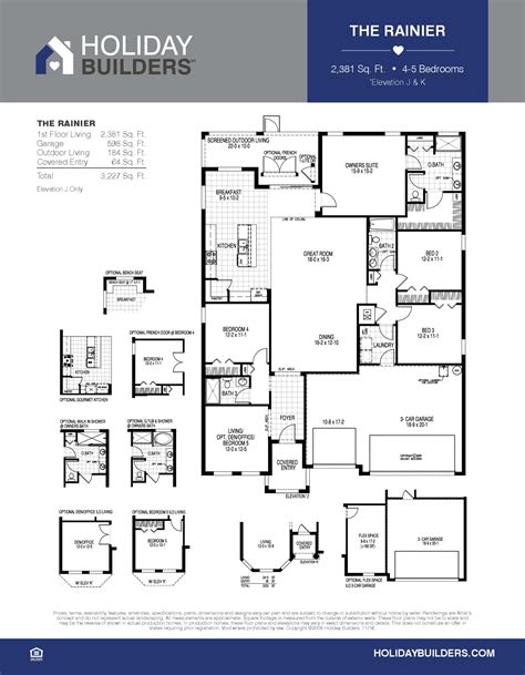 holiday house floor plans the rainer lee parade of homes