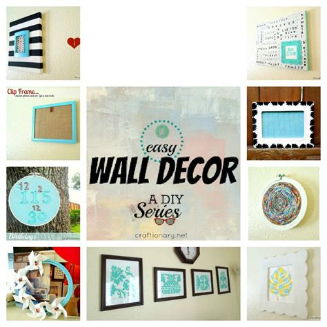 easy wall decoration crafts