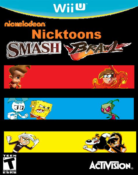 Gamis Syari Futrida nicktoons smash brawl cover by cartoonfanboyone on