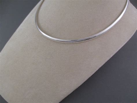 Omega Silver Chain sterling silver omega necklace 16 quot omega chain necklace