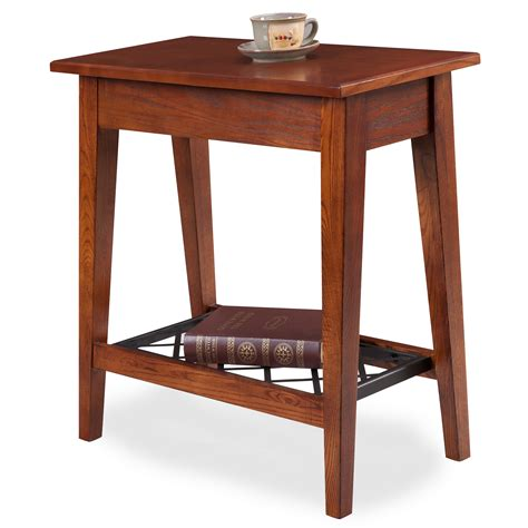 Narrow End Table by Leick Westwood Oak Narrow Chair Side Table