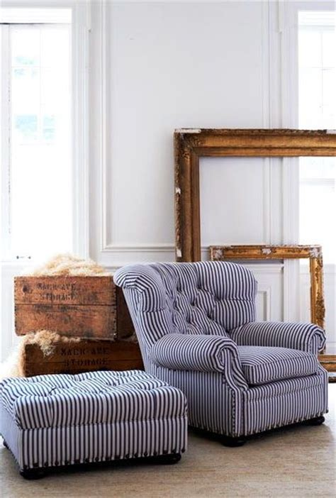 blue striped chair and ottoman authors chair ralph lauren and ottomans on pinterest