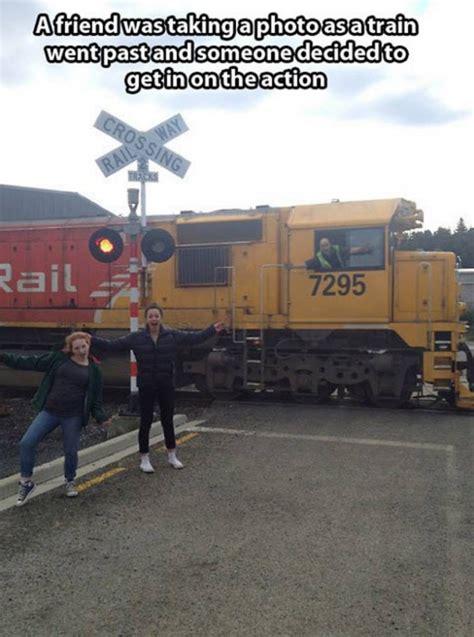 Train Meme - train driver photobomb meme