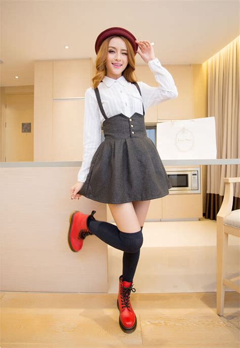 high waist suspender skirt on storenvy
