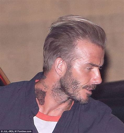 david beckham neck tattoo david beckham reveals large neck on his neck