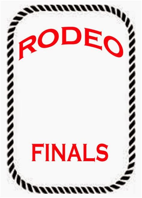 Printable Rodeo Numbers | rodeo activity and game pages rodeo contestant back