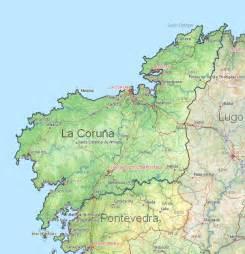 La Coruna Spain Map by Coruna Spain Map Images
