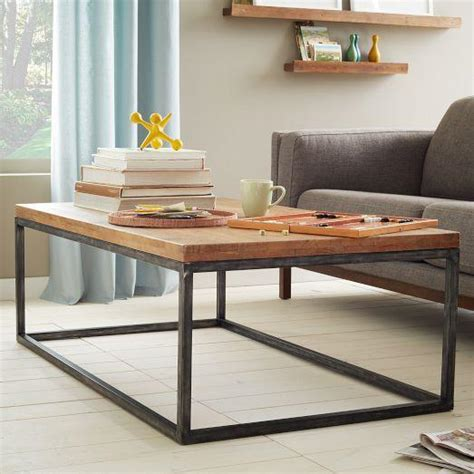 West Elm Mango Wood Coffee Table Box Frame Coffee Table Cafe West Elm