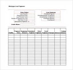 loan schedule template loan payment schedule template 6 free word excel pdf