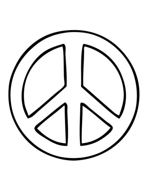 Peace Sign Template printable peace signs cliparts co