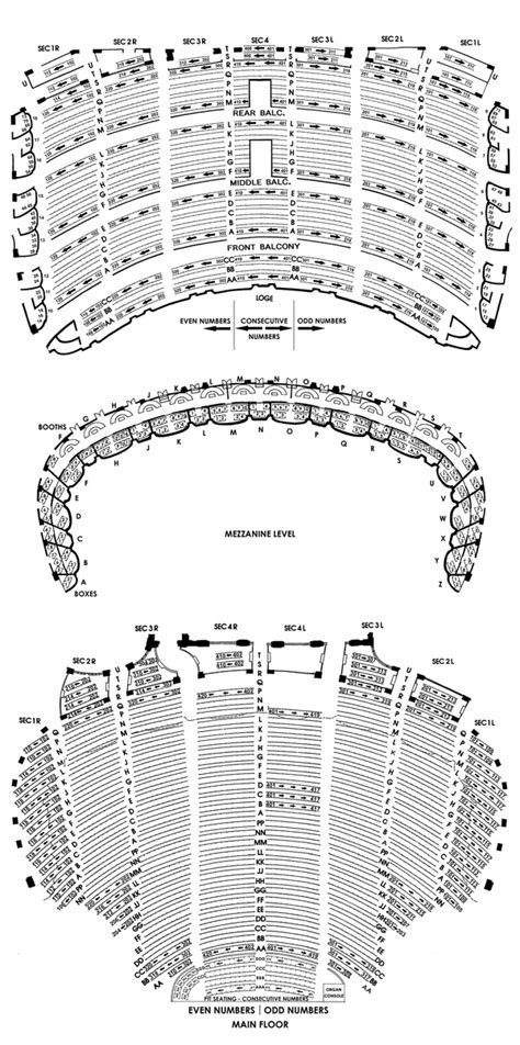 chicago theater floor plan chicago theatre seating chart theatre in chicago