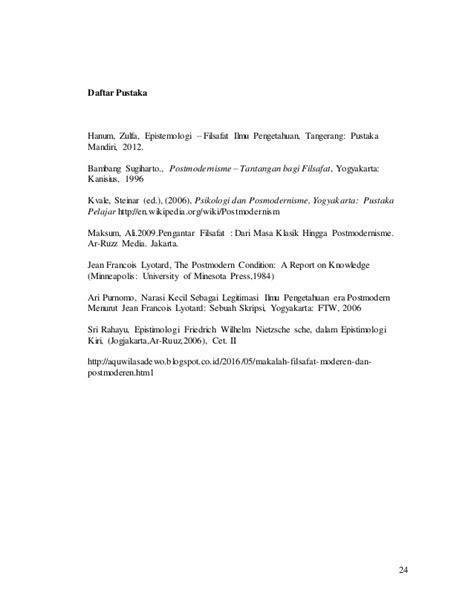 Pengantar Filsafat Ali Maksum perbandingan filsafat ilmu modern dan postmodern