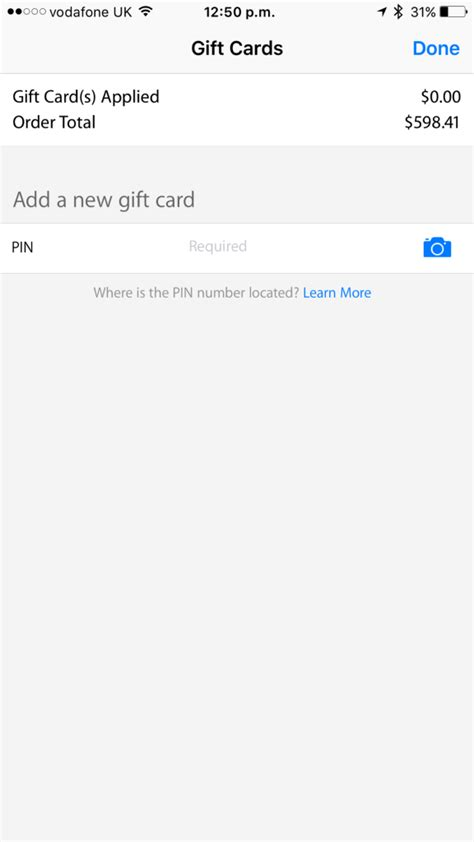 Gift Card In App Purchase - apple store app now supports gift card purchases