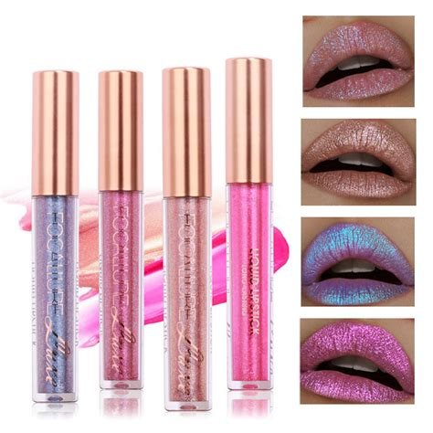 Bb Glossy Lipgloss best focallure glitter color matte lip gloss sand