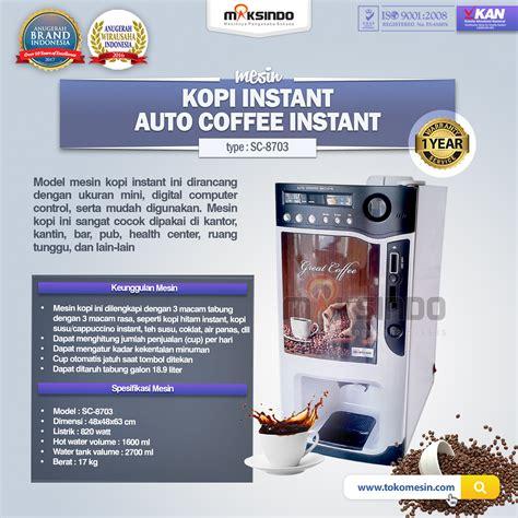 Coffee Maker Di Surabaya jual mesin kopi instant auto coffee instant machine di