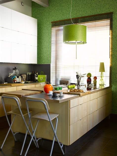 Island For Small Kitchen Captivating Small Kitchen Island With Seating Ikea And Lime Green Pendant Light Also Butcher