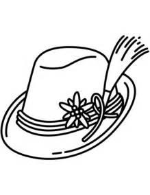 german santa coloring page bavarian hat coloring page free printable coloring pages