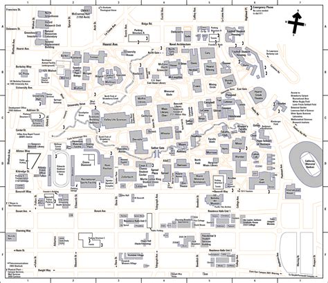 map of berkeley california of california at berkeley map berkeley