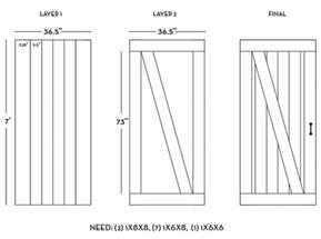 Barn Door Plan Diy Barn Door Plans Tutorial Sue Design