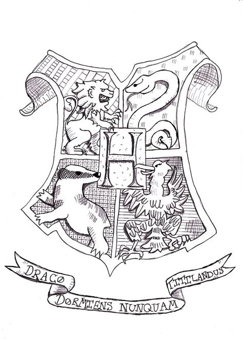 harry potter coloring book set harry potter coloring pages hogwarts crest coloring home