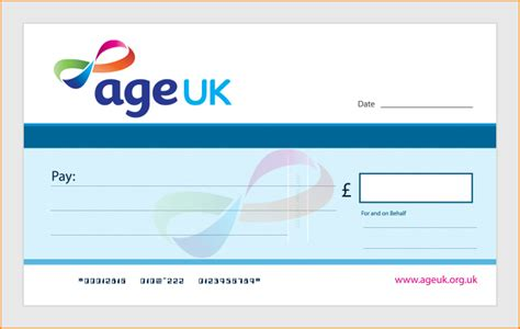 Order Large Single Use Charity Presentation Cheques Large Cheques For Presentation