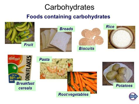 carbohydrates contain diet nutrition ks4 physical education title ppt