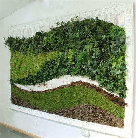 preserved moss wall art   decorative frame applied