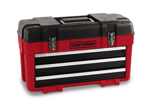craftsman 3 drawer plastic metal portable chest tool box