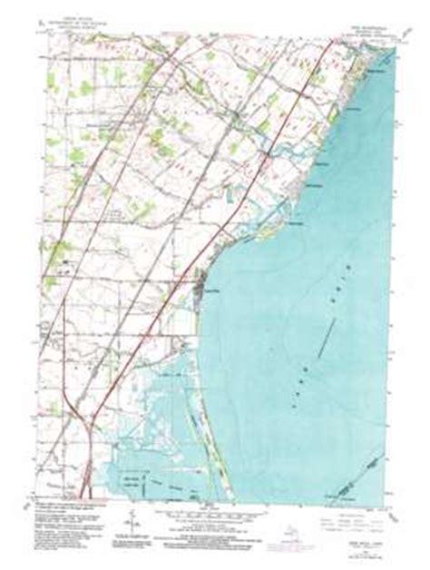 printable map erie pa erie topographic map mi oh usgs topo quad 41083g4