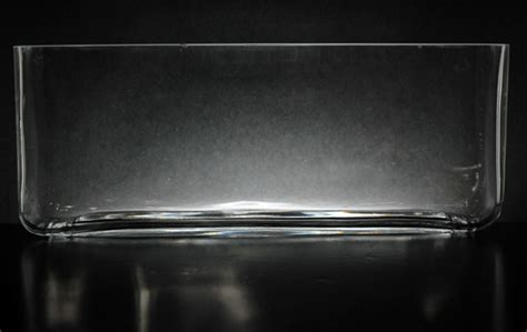 "Long Glass Rectangle Vase 11.5"" x 3.5"""