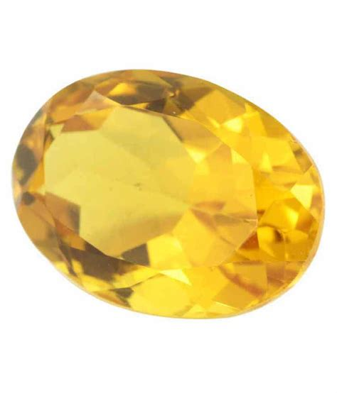 avaatar yellow 13 55 ratti faceted oval citrine sunehla