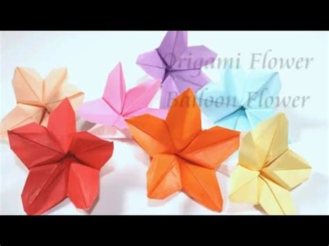 Origami Balloon Flower - how to make an origami balloon flower