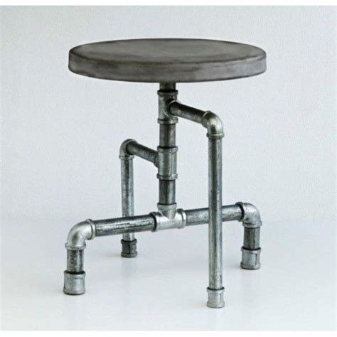 Iron Pipe Bar Stool by Industrial Metal And Pipe Stool With A Solid Concrete