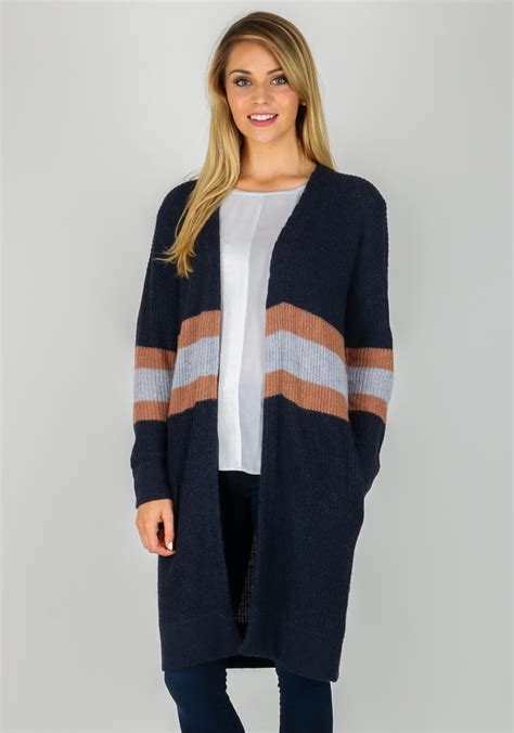 navy chunky knit cardigan yaya striped chunky knit cardigan navy mcelhinneys
