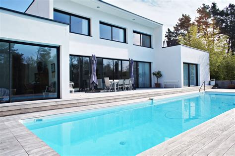 Plan Maison Contemporaine Avec Piscine by Vertou Somptueuse Maison Contemporaine Avec Piscine En