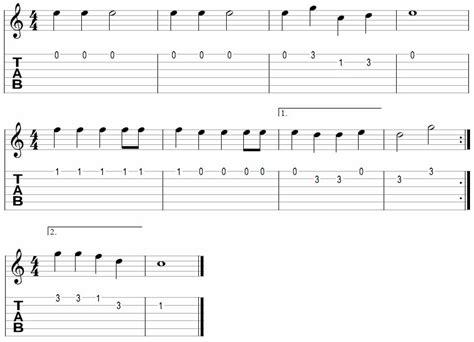 guitar tutorial jingle bells simple songs for beginners to practice on guitar aaron