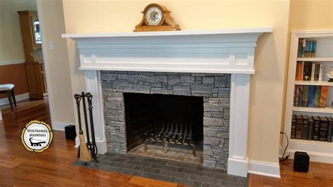 woodworking diy fireplace mantel surround   part