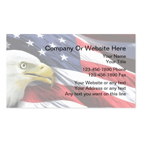 Patriotic Business Card Template Zazzle Free Patriotic Business Card Templates