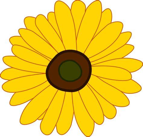 printable cartoon flowers cartoon sunflower clip art at clker com vector clip art