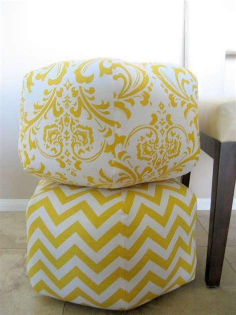 yellow pattern ottoman 18 ottoman pouf floor pillow yellow white damask by