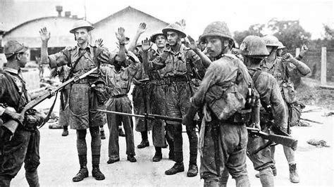 malaysia film unit allied soldiers captured as singapore is surrendered to