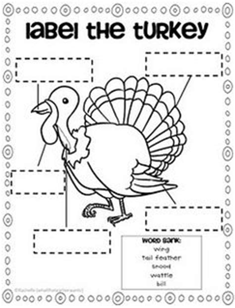 printable turkey parts kindergarten thanksgiving on pinterest thanksgiving