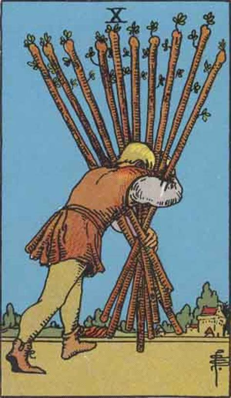 ten  wands tarot card meanings