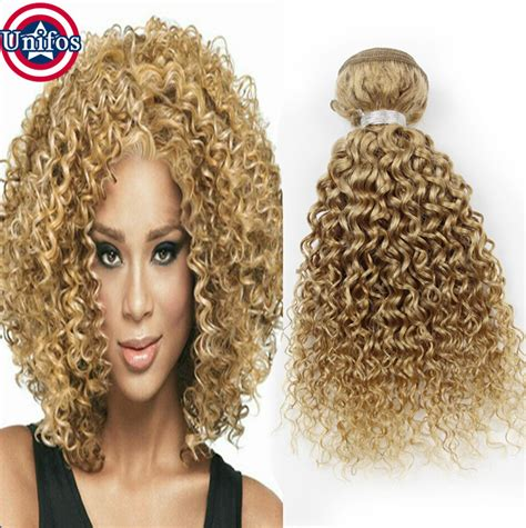 curly weft human hair extension single bundle curly hair extensions honey