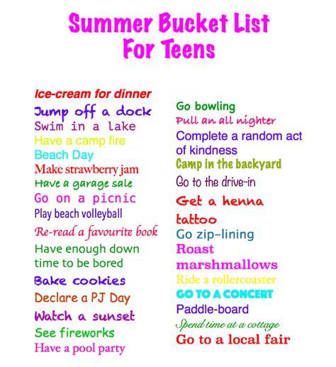 summer bucket list list for crazy teens apexwallpapers com bucket list ideas for teenagers for summer www imgkid