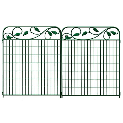 Garden Fence Lowes shop no dig green steel fence panel common 44 in x 36 in