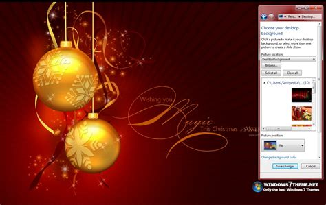 christmas themes with music red christmas windows 7 theme with music download