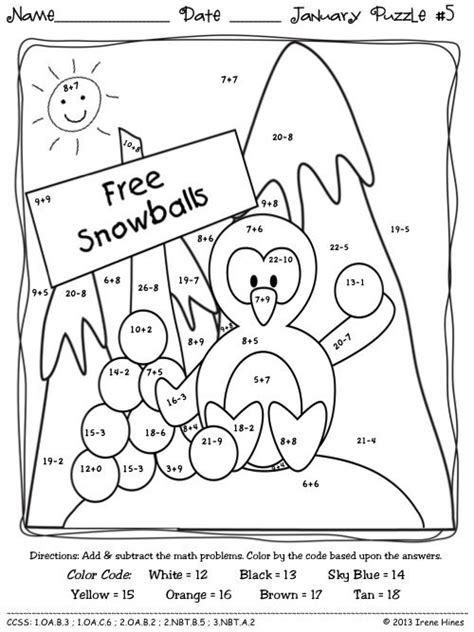 math puzzle coloring pages winter math coloring pages freecoloring4u com