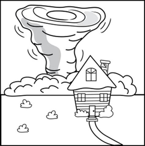 Printable Coloring Pictures Of Tornadoes Coloring Pages Tornado Coloring Pages