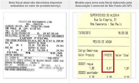 layout da nf e 2 0 g1 lei que determina discriminar custo dos impostos